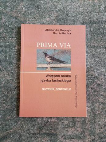 Prima via wstępna nauka języka łacińskiego słownik sentencje