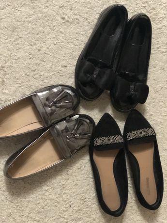 Туфли лоферы лаковый нарядные  чёрные Zara Spring Toleeao для девочки