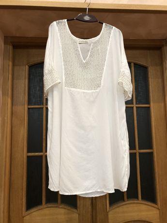 Новое брендовое итальянское рлатье туника рубашка 54-56р JANET & JOYCE