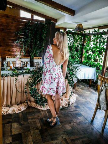 Платье в цветы, красивое платье, белое платье, розовое платье купить