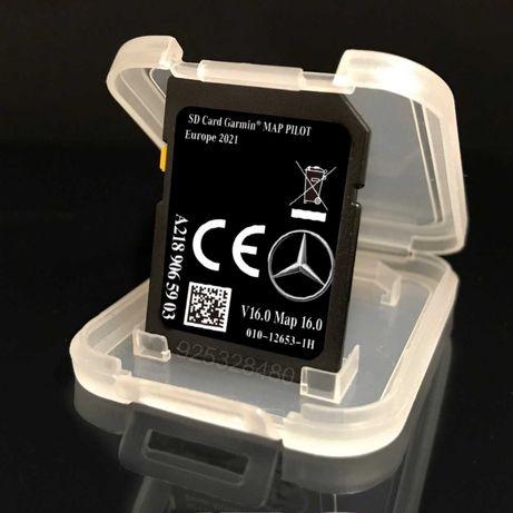 Mercedes GPS - cartao Novo v17 Europa 2021-22