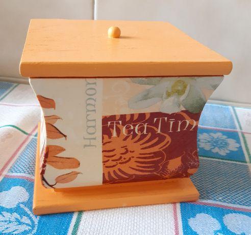 Caixa de madeira para chá ou usos diversos