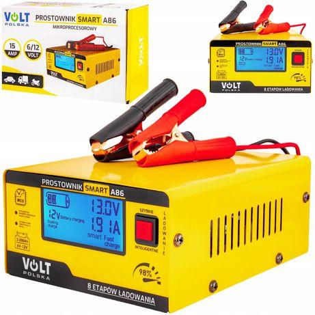 Ładowarka prostownik do akumulatora lcd 6V 12V 15A (PRO49)