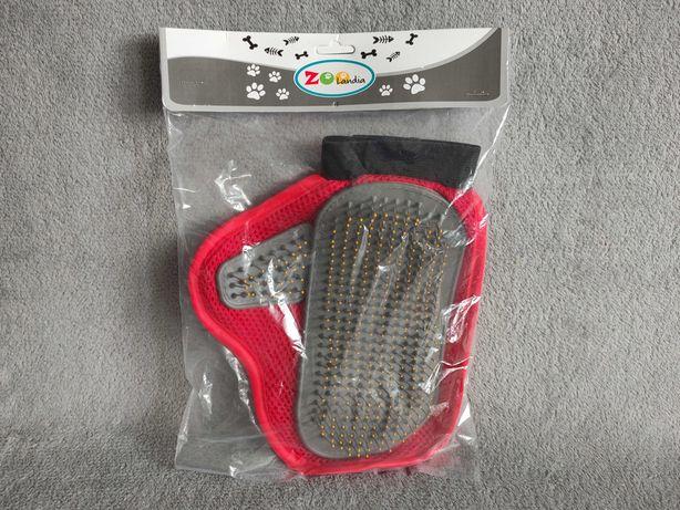 Nowa rękawica do wyczesywania sierści dla psa lub kota