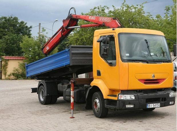 Usługi Transportowe Żuraw HDS , Wywrotka 3 STR ład 6t Zwir Piasek