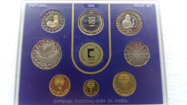 Colecção de 8 moedas da Exposição Mundial de Lisboa  - Expo 98 INCM