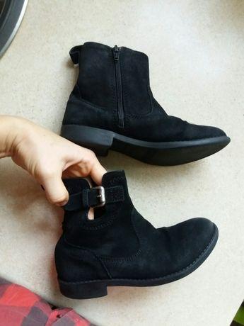 Botki czarne zamszowe kozaczki Zara rozmiar 31 wkładka 20,5 cm
