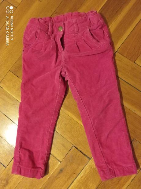 Spodnie rurki 92 palomino sztruks dla dziewczynki