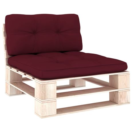 vidaXL Almofadões para sofás de paletes 2 pcs vermelho tinto 314537