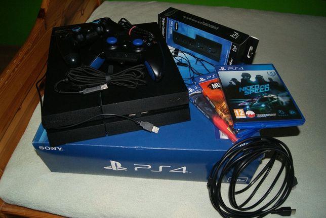 Konsola PS4 + 3 gry + pad razer + wentylator