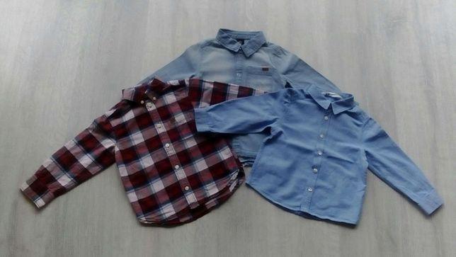 Koszule chłopięce z długim rękawem