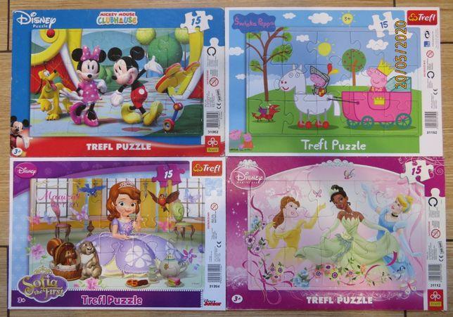 puzzle 15 , zestaw 8 sztuk.