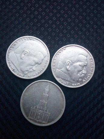 Монеты 5 марок Третий рейх