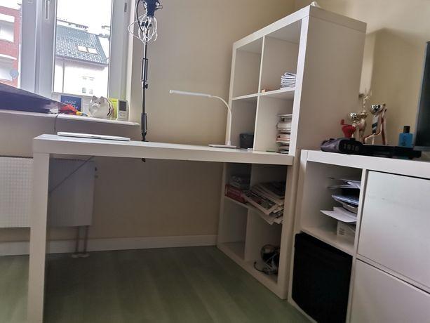 Biurko kallax Ikea + regały