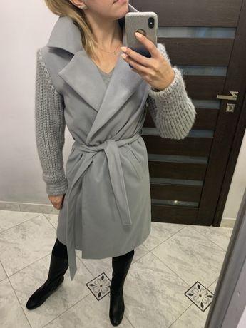 Szary płaszczyk by o la la rozmiar M/L