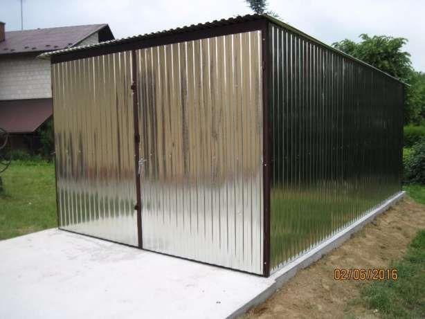 Standardowy garaż blaszany 3x5 6x5. Garaż blaszak. Schowek. Producent