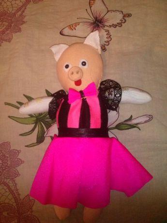 Кукла *Хрюня* хэнд-мэйк 27см.