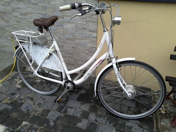 Rower Sparta Granny wspomaganie elektryczny męski miejski holenderski