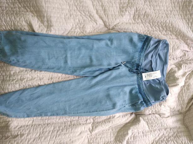 Spodnie ciążowe h&m mama M nowe z metka lyocell cienki jeans