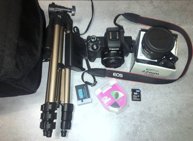 Canon m50+Canon 22mm+adapter EFM-EF+akcesoria,STAN IDEAŁ,na GWRANCJI!!
