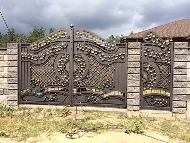 Ковані ворота,козирки,огорожі