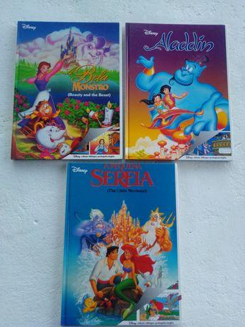 A Bela e o Monstro. Aladdin.A Pequena Sereia. Edição bilingue