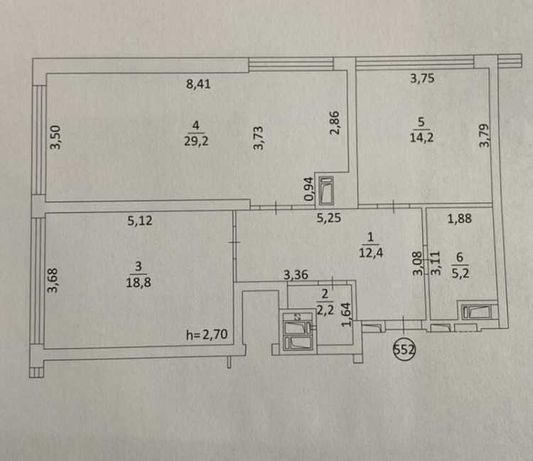 2-кімнатна квартира в зданому будинку  ЖК Вільне Місто