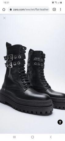 Кожанные ботинки ZARA Оригинал!