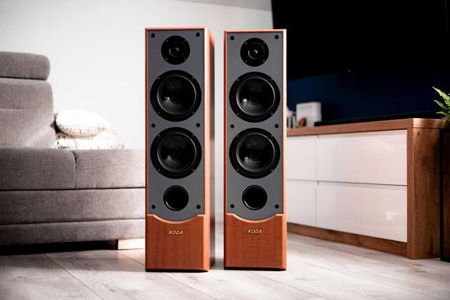 Kolumny KODA AV702F v2, soczysty dźwięk, mocny bas, super stan, GRATIS