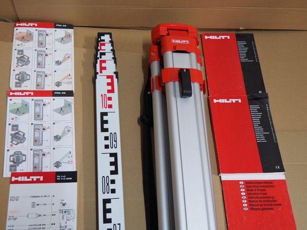 Statyw HILTI 1.6m i lata 5m do laser niwelator PR 30,35,36,25,20 cst