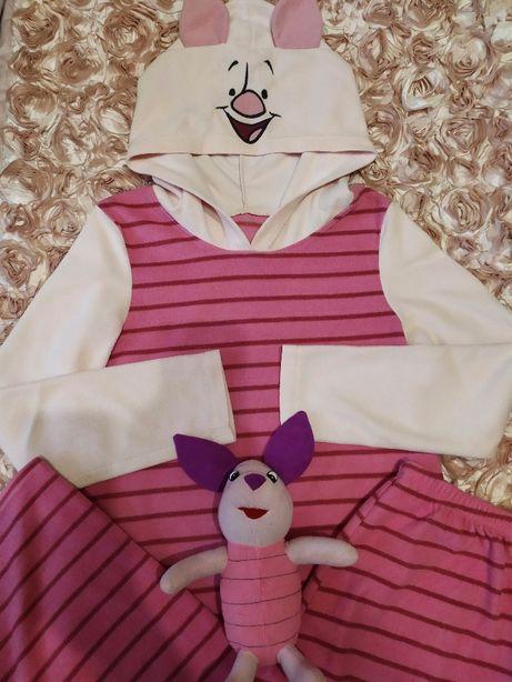 Новая розовая флисовая пижама Пятачок Оригинал Дисней р. 44