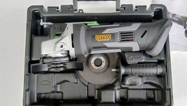 akumulatorowa szlifierka kątowa niteo 20 V max nowa + walizka