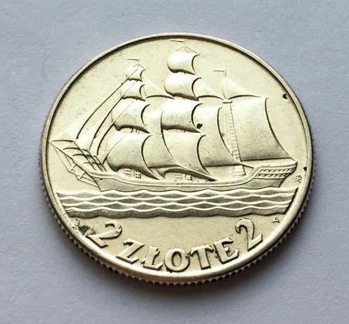 Moneta 2 złote Żaglowiec 1936 r