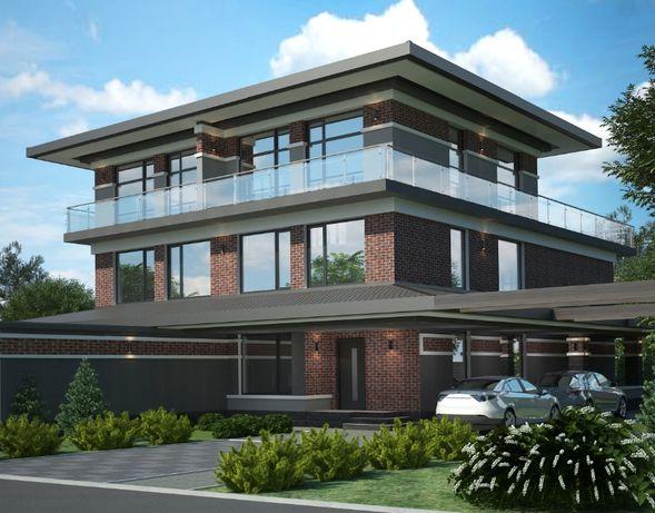 Лесники дом-дуплекс с террасой на крыше и инфраструктурой 270 м2  3сот