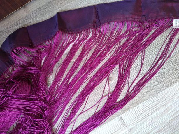 Firana zasłona makaron spaghetti 90 x 200 cm wrzos