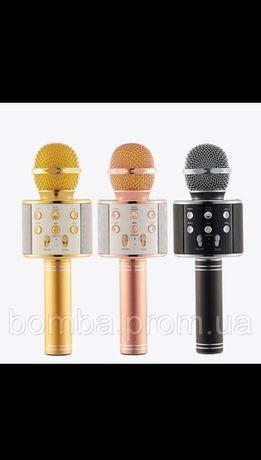 Беспроводной Караоке Микрофон Bluetooth Q7 с в чехле блютуз колонкойQ9