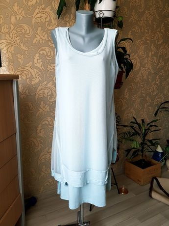 Платье асиметричное фирменное вискоза Италия