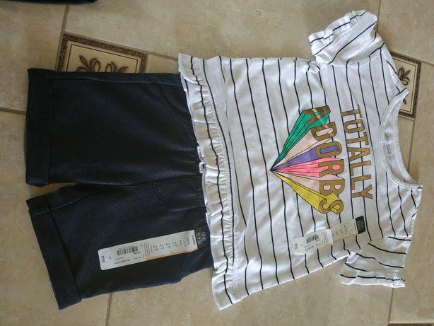 Новые фирменные вещи!Футболка,юбка,шорты для девочки 2-3 года
