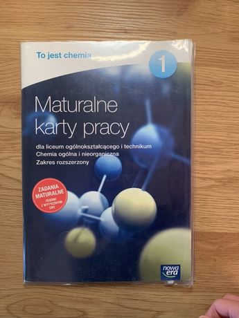 Maturalne karty pracy 1 chemia poziom rozszerzony