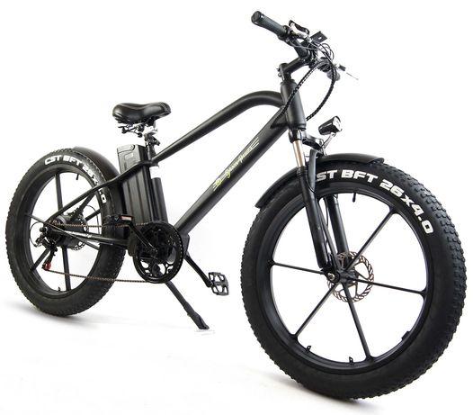 Rower Fatbike Elektryczny Górski 500W LitJon 60km Grube Opony 26x4.0