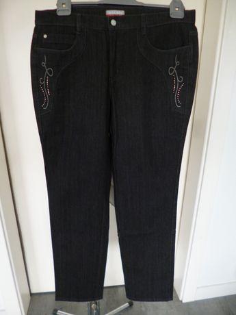 Bardzo ładne spodnie jeansowe rozm. - 42 - 44 - XL - pas - 92 cm