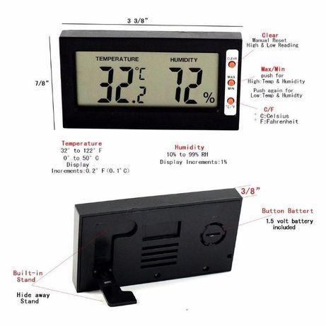 Termómetro & Higrómetro LCD (mínimo e máximo) - portes grátis #001.6