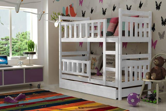 Drewniane łóżko dla dzieci Staś 2 osobowe materace gratis !