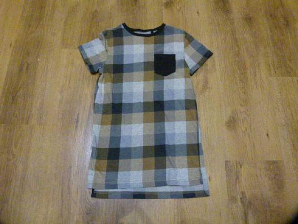 rozm 134/140 Next koszulka szara/brązowa t-shirt chłopięcy