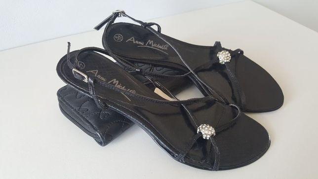 Sandały czarne nowe anne michelle tanio 37