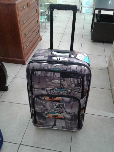Продам чемодан дорожный Польский на колесах с кодовым замком тканевый