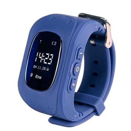 Новые Умные Smart часы для детей с GPS трекером Baby Watch Q50 Синие