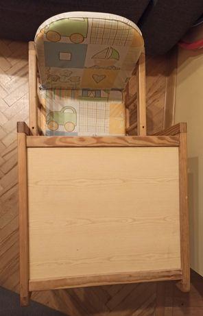 Krzesełko drewniane ze stolikiem dla dziecka 2 w1