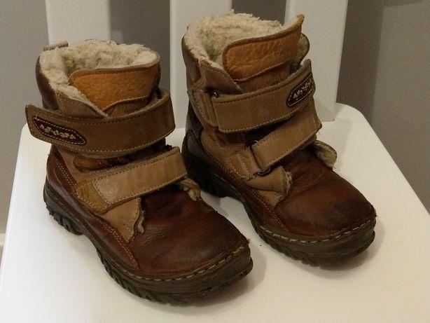 Zimowe ciepłe buty skóra Antylopa r.24