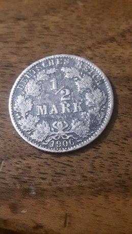 1\2 Марки 1906р. Німеччина. Срібло.